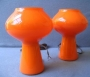2 Massimo Vignelli design venini murano mushroom lamp