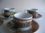 Piero Fornasetti design Rosenthal cup and saucers Citta d&#039;ital