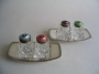 David Andersen silver enamel salt and pepper