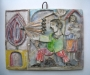 Large Giovanni Desimone tile 1950 Italian ceramic